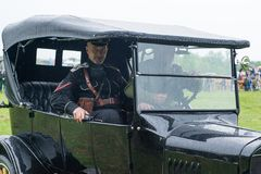 General Kornolov in car Stock Photography