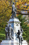 General Lafayette Statue Lafayette Park Autumn Washington DC Royalty Free Stock Photos