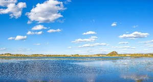 The general Lake in WulanBu all grassland ancient battlefield stock photos