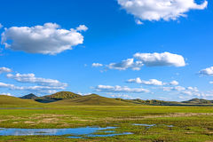 The general Lake in WulanBu all grassland ancient battlefield royalty free stock photos