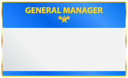 General Manager Card Stock Photos