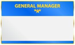 General Manager Card Stock Photos