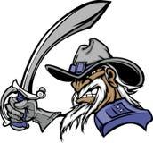 General Mascot Logo. Vector Image of General Mascot Logo Stock Images