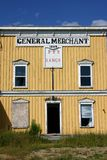 General merchant. Very old yellow general store.  Western ambiance Stock Photography