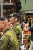 General Micael Bydén março do comandante supremo Swedish Armed Forces Imagem de Stock
