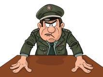 General militar enojado Foto de archivo