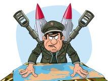 General militar enojado Fotografía de archivo libre de regalías