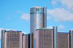 General Motors Headquarters in Downtown Detroit. DETROIT, Michigan. November 7, 2017 General Motors Headquarters.  Renaissance Center in downtown Detroit Royalty Free Stock Images