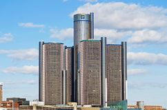 General Motors Headquarters in Downtown Detroit. DETROIT, Michigan. November 7, 2017 General Motors Headquarters.  Renaissance Center in downtown Detroit Royalty Free Stock Photos