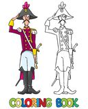 General or officer. Coloring book Royalty Free Stock Photography