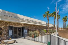 General Patton Memorial Museum. The front entrance to the General Patton Memorial Museum in Chiriaco Summit, California. It houses many memorabilia from World royalty free stock image