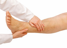 Lower limb examination Royalty Free Stock Images