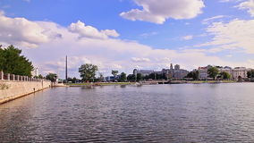 General plan waterfront in Ekaterinburg, Russia Royalty Free Stock Images