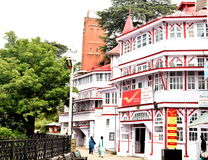 General Post Office Of Shimla , at mall. Postal heritage buildings was established in the year 1883 and is located on the famous Mall Road here. The site was Stock Photography