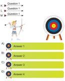 General - preguntas de Archer y de la flecha stock de ilustración