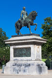 General Prim Monument Barcelona. General Prim riding a horse bronze monument in Ciutadella Park, Barcelona, Catalunia, Spain Royalty Free Stock Images