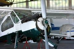 General prop aircraft maintenance Stock Photos