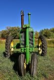 General Purpose John Deere tractor. DETROIT LAKES, MINNESOTA, September 26, 2017: The restored tractor is a General Purpose John Deere produced by the John Deere royalty free stock images
