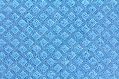 General Purpose Sponge Cloth. A clean texture of General Purpose Sponge Cloth in Blue Color royalty free stock photo