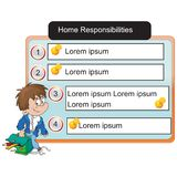 General - reglas del estudiante para el hogar ilustración del vector