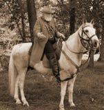 General Robert E. Lee Reenactor Royaltyfria Foton