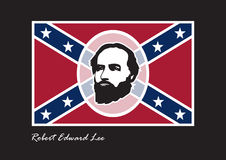General Robert Edward Lee. The supreme commander of the Confederate Army. Commander in the American Civil War. Lee s Birthday, Lee Jackson Day. Background with Royalty Free Stock Images