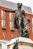 General Rochambeau Statue Lafayette Park Autumn Washington DC Stock Photo