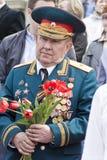 General ruso en la celebración en el desfile en la victoria anual D Foto de archivo