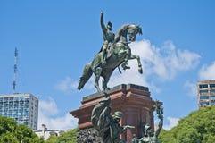 General San Martin Monument i Buenos Aires Arkivbilder