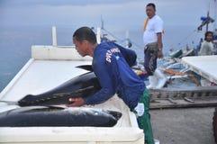 General Santos, Filipinas - 5 de septiembre de 2015: Los porteros son loa Imagen de archivo