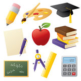 General School Icons Royalty Free Stock Photo