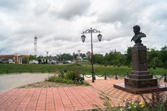 General Seslavin memorial in the city of Rzhev, Tver region, Russia. Alexander Nikitich Seslavin 1780 — 1857 — Lieutenant General, famous for his military Stock Image