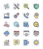 General Setting icons, Color set - Vector Illustration. An illustration set for your web page, presentation, & design products Royalty Free Stock Image