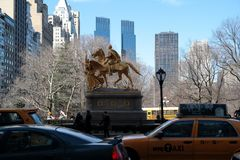 General Sherman Monument, New York City. stock images
