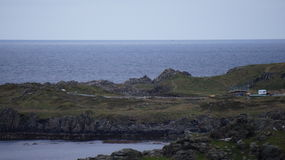 General shot of Star Wars Movie Set construction in Malin Head Stock Photos