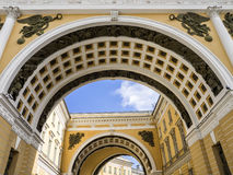 General Staff arch and building in Saint-Petersburg. Detail view of the General Staff arch and building. Saint-Petersburg, Russia Stock Photography