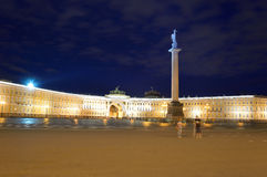 The General Staff building and Alexander column on Palace Square. Stock Images