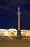 The General Staff building and Alexander column on Palace Square. Stock Photos