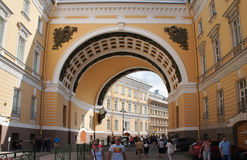 General Staff Building arch in the Saint Petersburg Stock Images