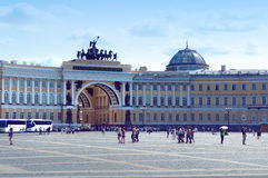 General Staff Building and Palace Square in the Saint Petersburg Stock Photos