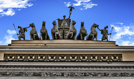 General Staff Building in St Petersburg. Triumphal Stock Photo