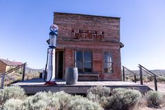General store with a gas pump in front of it royalty free stock photography