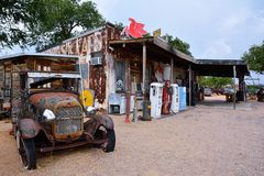 General store at Hackberry on route 66. Royalty Free Stock Photos