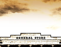 General store on main street America stock photography