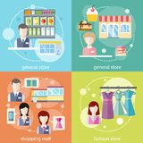 General store, shopping mall and fashion store Royalty Free Stock Photography