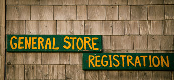 General store sign Stock Image
