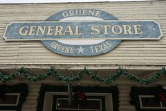 General store sign in Gruene Texas Royalty Free Stock Images