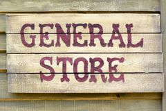 General store sign Royalty Free Stock Photo