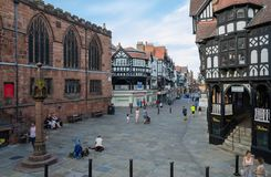 General street scene in Chester royalty free stock photo