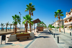 General street view in Costa Blanca. Alicante, Spain Stock Images